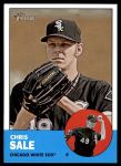 2012 Topps Heritage #35  Chris Sale  Front Thumbnail