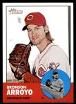 2012 Topps Heritage #39  Bronson Arroyo  Front Thumbnail