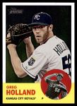 2012 Topps Heritage #82  Greg Holland  Front Thumbnail