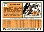2012 Topps Heritage #314  Alexi Casilla  Back Thumbnail
