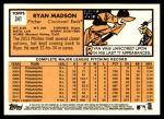 2012 Topps Heritage #341  Ryan Madson  Back Thumbnail