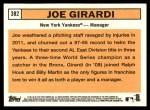 2012 Topps Heritage #382  Joe Girardi  Back Thumbnail