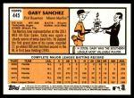 2012 Topps Heritage #445  Gaby Sanchez  Back Thumbnail