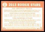 2013 Topps Heritage #33   -  Didi Gregorius / Todd Redmond Rookies Back Thumbnail