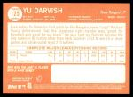 2013 Topps Heritage #125 A Yu Darvish  Back Thumbnail