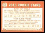 2013 Topps Heritage #243   -  Darin Ruf / Tyler Cloyd Phillies Rookies Back Thumbnail