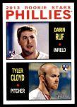 2013 Topps Heritage #243   -  Darin Ruf / Tyler Cloyd Phillies Rookies Front Thumbnail