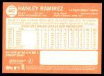 2013 Topps Heritage #442  Hanley Ramirez  Back Thumbnail
