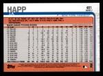 2019 Topps #481  J.A. Happ  Back Thumbnail