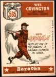 1959 Topps #565   -  Wes Covington All-Star Back Thumbnail