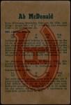 1960 Parkhurst #60  Ab McDonald  Back Thumbnail