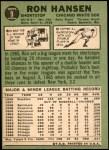 1967 Topps #9  Ron Hansen  Back Thumbnail