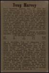 1958 Parkhurst #49  Doug Harvey  Back Thumbnail
