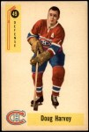 1958 Parkhurst #49  Doug Harvey  Front Thumbnail