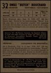 1953 Parkhurst #32  Butch Bouchard  Back Thumbnail