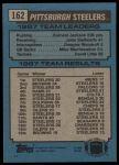 1988 Topps #162   -  Earnest Jackson / John Stallworth / Dwayne Woodruff / Mike Merriweather / David Little Steelers Leaders Back Thumbnail