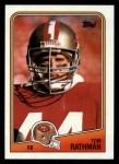 1988 Topps #41  Tom Rathman  Front Thumbnail
