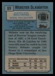 1988 Topps #89  Webster Slaughter  Back Thumbnail