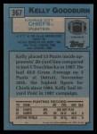 1988 Topps #367  Kelly Goodburn  Back Thumbnail