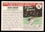 2004 Topps Heritage Flashbacks #1  Duke Snider  Back Thumbnail