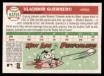 2004 Topps Heritage New Age Performers #14  Vladimir Guerrero  Back Thumbnail