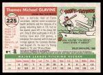 2004 Topps Heritage #225  Tom Glavine  Back Thumbnail