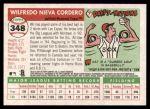 2004 Topps Heritage #348  Wil Cordero  Back Thumbnail