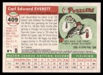 2004 Topps Heritage #409  Carl Everett  Back Thumbnail