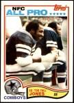 1982 Topps #318  Ed Too Tall Jones  Front Thumbnail