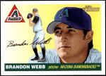 2004 Topps Heritage #213 OUT Brandon Webb   Front Thumbnail