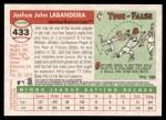 2004 Topps Heritage #433  Josh Labandeira  Back Thumbnail