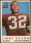 1959 Topps #10  Jim Brown  Front Thumbnail