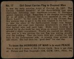 1938 Horrors of War #17   Girl Scout Carries Flag to Doomed Men Back Thumbnail