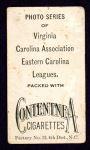 1910 T209-2 Contentnea  Brent  Back Thumbnail