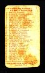 1910 Philadelphia Caramel E96  Hughie Jennings  Back Thumbnail