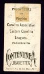 1910 T209-2 Contentnea  Stouch  Back Thumbnail