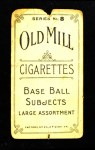 1910 T210-8 Old Mill Southern League  Erloff  Back Thumbnail