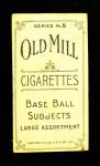 1910 T210-5 Old Mill Carolina Association BAT Roth  Back Thumbnail