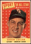 1958 Topps #491   -  Sherm Lollar All-Star Front Thumbnail