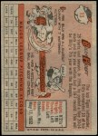 1958 Topps #13 RED Billy Hoeft  Back Thumbnail