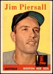 1958 Topps #280  Jimmy Piersall  Front Thumbnail