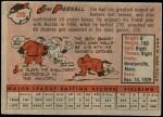 1958 Topps #280  Jimmy Piersall  Back Thumbnail