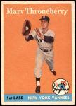1958 Topps #175  Marv Throneberry  Front Thumbnail