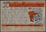 1957 Topps #29  Whitey Herzog  Back Thumbnail