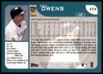 2001 Topps Traded #73 T Eric Owens  Back Thumbnail