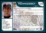 2001 Topps Traded #256 T Brad Hennessey  Back Thumbnail