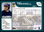 2001 Topps Traded #53 T Bubba Trammell  Back Thumbnail