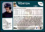 2001 Topps Traded #55 T Greg Norton  Back Thumbnail