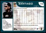 2001 Topps Traded #56 T Benito Santiago  Back Thumbnail