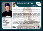 2001 Topps Traded #152 T Kurt Ainsworth  Back Thumbnail